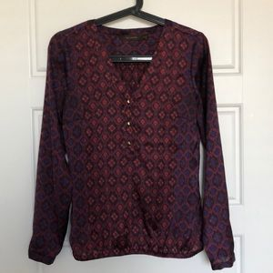 The Limited XS pattern blouse